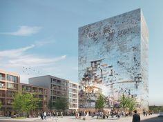 "Gallery of MVRDV Design ""Crystal-Rock"" Facade for Mixed-Use Building in Esslingen - 1"