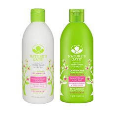 Nature's Gate Volumizing Shampoo and Nature's Gate Volumizing Conditioner Bundle With Awapuhi Ginger and Holy Basil, 18 fl oz (532 ml) each * See this great product.