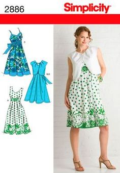 This is one of the dresses i would recommend making for yourself, maybe not as a first sewing project however