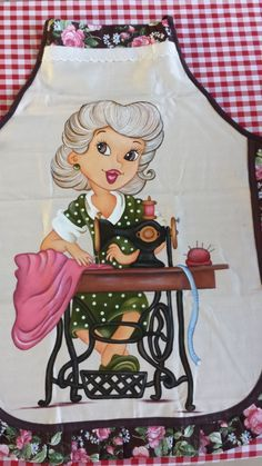 Painting Apron, Tole Painting, Fabric Painting, Sewing Aprons, Country Paintings, Painted Clothes, Doodle Designs, Sewing Art, Learn To Paint