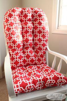 Custom Baby Crib Bedding  Design Your Own Modern Bedding/ Dorm Bedding   Glider Cushions  Modern Basics (Red)