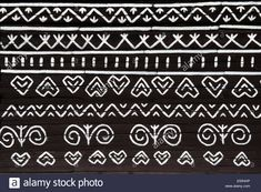 Stock Photo - painted pattern on side of log house in Cicmany, UNESCO World Heritage Site, Slovakia Painting Patterns, Craft Patterns, Mountain Tattoo, Log Homes, World Heritage Sites, House Painting, Pattern Art, Stock Photos, Fences