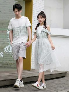 Dress Outfits, Girl Outfits, Fashion Dresses, Cute Outfits, Ulzzang Fashion, Korean Fashion, Fashion Couple, Girl Fashion, Beautiful Evening Gowns