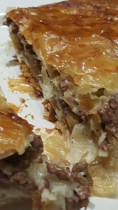 Good Food (maybe): (Brz) Burek sa Mesom My Recipes, Baking Recipes, Cake Recipes, Burek Recipe, Croation Recipes, Bosnian Recipes, Macedonian Food, Best Food Ever, Homemade Cakes