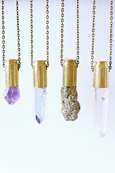 amethyst bullet necklace unearthen style