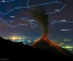 Volcano of Fire Erupts Under the Stars  Image Credit & Copyright: Diego Rizzo