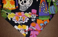 Dia de los Muertos Dog Bandana! by DogGoneGoodBandanas on Etsy
