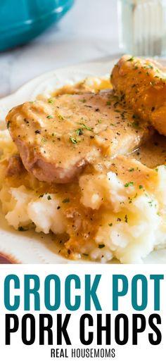 Slow Cook Pork Chops, Healthy Pork Chops, Thin Pork Chops, Tender Pork Chops, Pork Chops And Gravy, Breaded Pork Chops, Slow Cooker Pork, Crock Pot Pork Chops, Crockpot Boneless Pork Chops