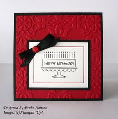 Great Red and Black Birthday Card