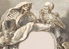 Skeletons in conversation, 1800s