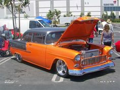 '55   Mom had a car like this one, same colors, not the fancy wheels