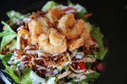 Salad with shrimp from Moe's Original Bar-B-Que was The Best Thing My Wife Ate Last Week