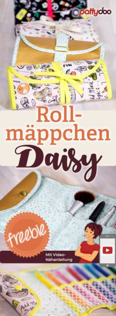 A Rollmäppchen for pens, cosmetics and more. Sew – A great gift idea – DIY Crafts A Rollmäppchen for pens, cosmetics and more. Sew – A great gift idea A Rollmäppchen for pens, cosmetics and more. Sew – A great gift idea! Sewing Patterns Free, Free Sewing, Free Pattern, Pattern Sewing, Sewing Tips, Sewing Hacks, Sewing Tutorials, Craft Gifts, Diy Gifts