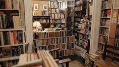 Brazenhead Books - Underground Bookstore in New York City.  Morgan we are going here with coffees in hand.
