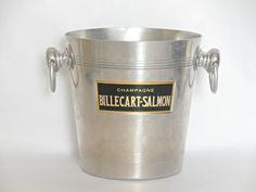 Champagne Bucket Billecart-Salmon 1960 - Wine Cooler. Champagne Cooler. Made in France. French Vintage