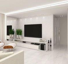 Likes, 21 Comments - Deco Garden-Design Living Room Interior, Home Living Room, Home Interior Design, Living Room Decor, Tv Wall Design, Ceiling Design, Design Case, Modern Tv Wall Units, Plafond Design