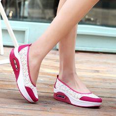 Hot Sale Purple Women Platform Casual Shoes Print Swing Shoes Breathable Mesh Slip-on Platform Shoes X953 35
