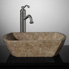 Palatine+Rectangular+Marble+Vessel+Sink+-+Light+Emperador+