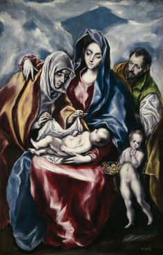 el greco: holy family with st anne and the infant john the baptist (la sagrada familia, santa ana y san juanito) St Anne, Oil On Canvas, Canvas Art, Canvas Prints, Greece Painting, Renaissance Kunst, Family Canvas, Santa Ana, Free Art Prints