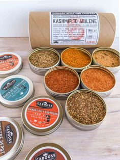 BBQ Gift Pack Set - 6 Tins Dry Rub Sampler - Gourmet Spices For Your Grill by Caboose Spice & Company on Gourmly