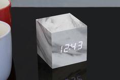 Cube Marble Click Clock