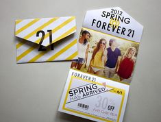 Forever 21 Self Mailer by Marcus Gilchrist, via Behance