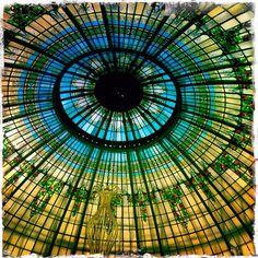 Cúpula del hotel Palace. Madrid. Glass Ceiling, Ceilings, Madrid, Windows, Glass Roof, Ramen, Window