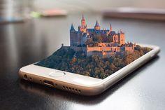 携帯電話, スマート フォン, 3 D, 操作, タッチ スクリーン