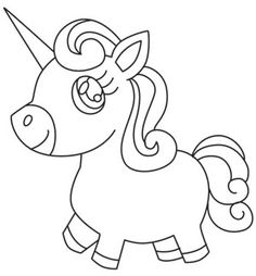 Stitch this adorable unicorn onto children's apparel and decor! Combine with Unicorn Face for a set. Downloads as a PDF. Use pattern transfer paper to trace design for hand-stitching.