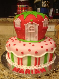 So cute, Strawberry Shortcake Cake :) I would have died for this cake when I was little