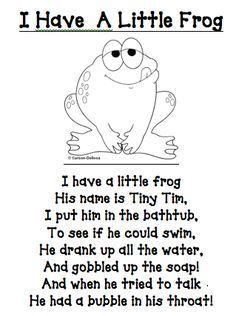 rx online I have a little frog poem/printable (other great printables too!) I have a little frog poem/printable (other great printables too! Preschool Poems, Kindergarten Songs, Preschool Music, Preschool Activities, Rhyming Poems For Kids, Frogs Preschool, Funny Kids Poems, Funny Rhymes For Kids, Funny Rhyming Poems