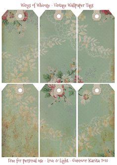 Fun floral gift tags free printable #free