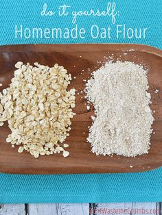 Skip the store-bought and make your own oat flour is just a few minutes. All you need is oats (any kind will work) and a blender! :: DontWastetheCrumbs.com