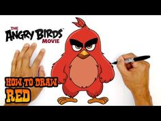 How to Draw Angry Birds Drawing Pictures Of Birds, Pencil Drawing Pictures, Bird Drawings, Pictures To Draw, Drawing Sketches, Easy Art Lessons, Drawing Lessons, Easy Cartoon Drawings, Bird Sketch
