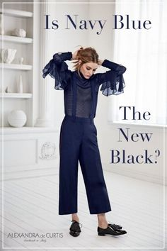 IS NAVY THE NEW BLACK? — Alexandra de Curtis | Ladies leather handbags, bucket bags, totes, clutches, ballet flats