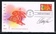 1999 - USA Happy New Year First Day Cover for Year of the Rabbit, 7th of the Lunar New Year Stamp Issued by USPS in Los Angeles on 01/05/1999, Stamp and Cover and AUTOGRAPHED by Stamp Designer Clarence Lee of Honolulu by Dlaw. $14.99. 1999 - USA Happy New Year First Day Cover for Year of the Rabbit, 7th of the Lunar New Year Stamp Issued by USPS in Los Angeles on 01/05/1999, Stamp and Cover and autographed by stamp Designer  Clarence Lee of Honolulu