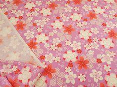 ▲和柄 - 商品詳細 [Special Sale]和調アムンゼン 桜 110cm巾/生地の専門店 布もよう