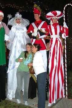 Christmas Character Stilts - a great addition to any Christmas event! http://bigfootevents.co.uk/entertainment/Themed-Events/Christmas-Party-Night-Themed-Entertainment.aspx
