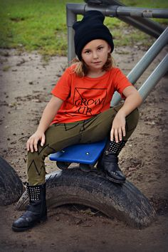 Don't grow up!!  Tee and Leggins by Mini and Maximus.    Tomboy Fashion takes over the Playground!