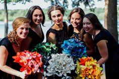Now thats a thought for flowers :: Home Grown Woodland Wedding with Origami Cranes & Flowers: Jason & Alexis