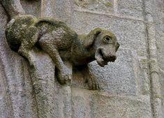 Gargouilles de cathédrale St-Corentin à Quimper