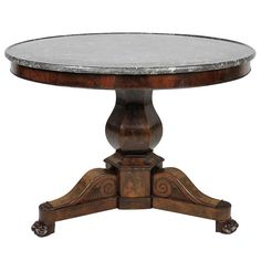A Fine Charles X Mahogany Table | From a unique collection of antique and modern pedestals at http://ww2.1stdibs.com/furniture/tables/pedestals/