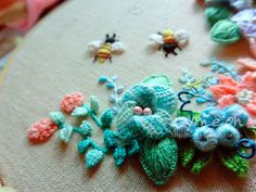 mintcream stumpwork Embroidery | Flickr - Photo Sharing!