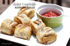 Mixing it up in HK: Chicken & vegetable sausage rolls with spelt pastry