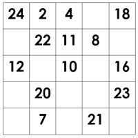 Magic Square Worksheets | Dr Mike's Math Games for Kids