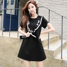 Original 2018 marca otoño primavera nueva moda de las mujeres letras  impresas casual vestido otoño mujeres 4e33e16cd211