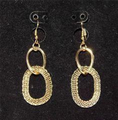Very Pretty Gold Tone Dangle Earrings PA24