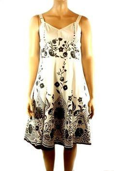 Women's Westside Designs 100% Cotton Brown Black White Sundress Plus Size 18W #WestsideDesign #Sundress #Casual
