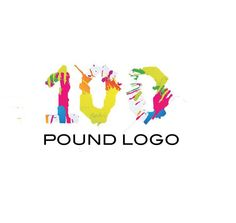 Graphic design 100 pound logo
