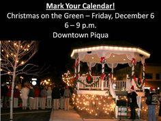 Christmas on the Green in Piqua, Ohio